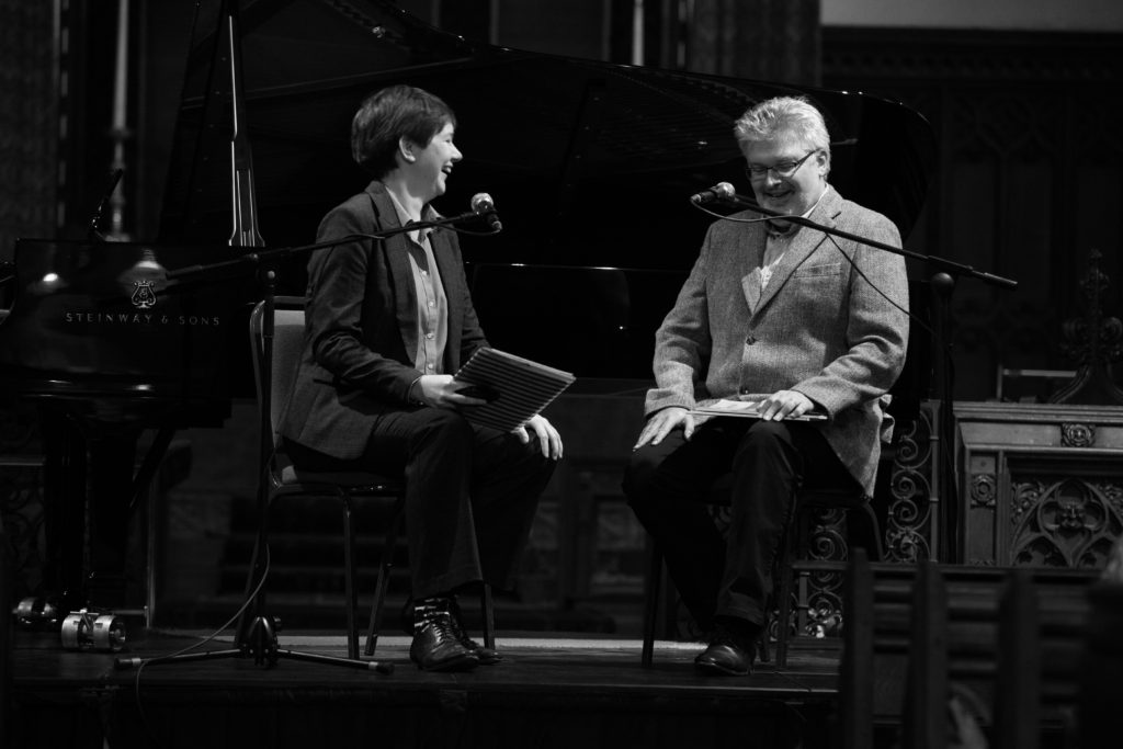 Interviewing Sir James MacMillan at the 2016 Ryedale Festival, © Gerard Collett