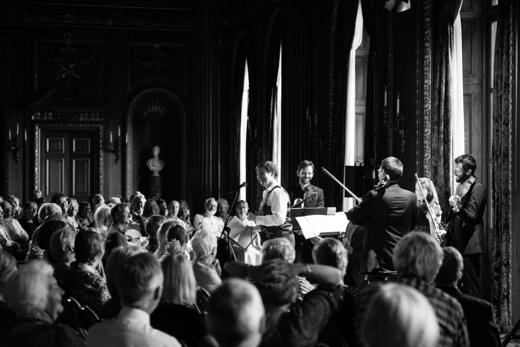 Concert introduction with the Heath Quartet at the Ryedale Festival, © Gerard Collett