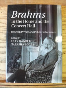 """Picture of the front cover of """"Brahms in the Home and the Concert Hall"""""""