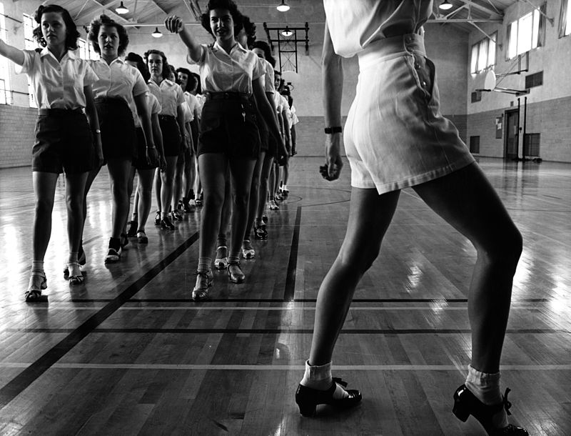 Jack Delano, Tap dancing class at Iowa State College, 1942