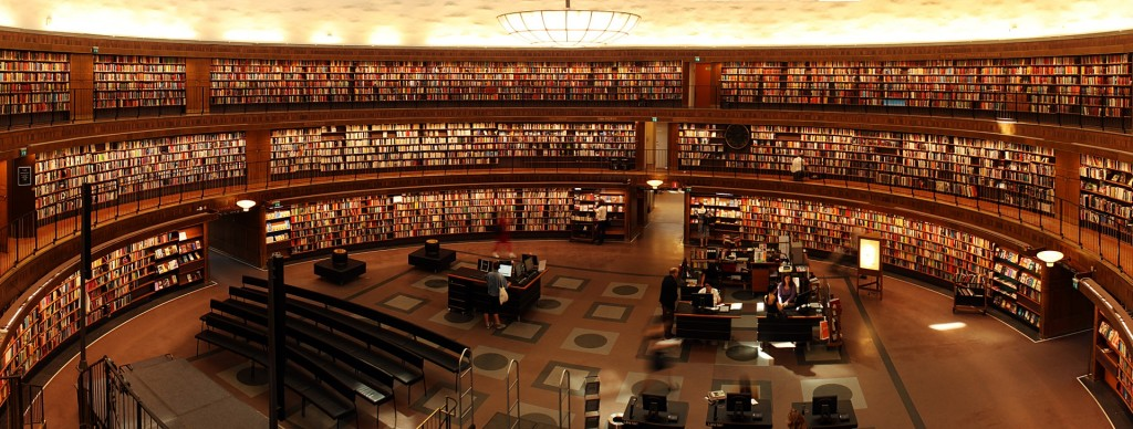 Large library reading room