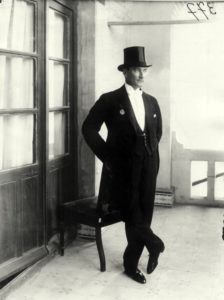 Man in top hat and tails, 1920s