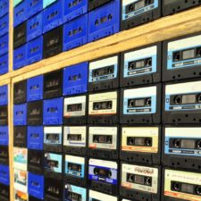 Wall of magnetic tapes