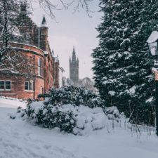 University of Glasgow in the snow
