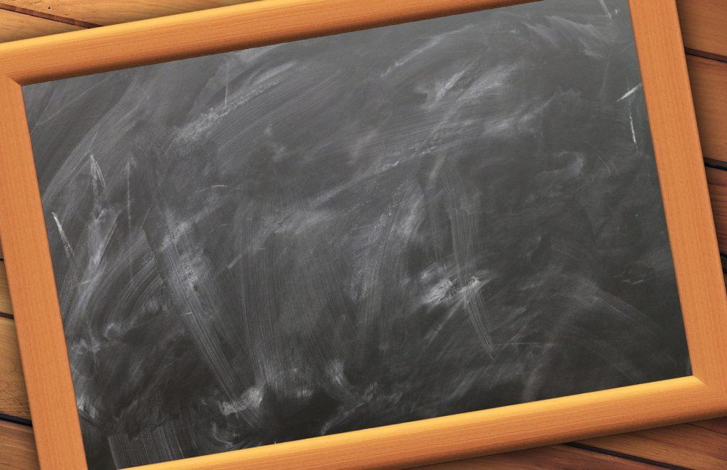 Blank blackboard slate